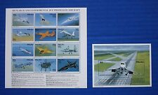Palau (#370-371) 1995 Research & Experimental Jet Airtcraft MNH sheet set