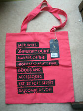 JACK WILLS PINK 'CASSINGTON' SHOPPER BAG - NEW WITH TAGS