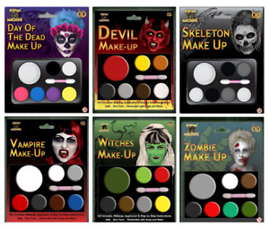 Halloween Zombie Skeleton Witch Devil Undead Make Up Palette With Applicator