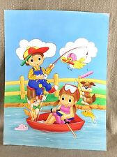 Original Childrens Book Artwork Illustration Painting Cartoon Comic Large Art