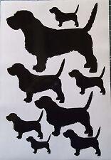 Basset Fauve de Bretagne vinyl stickers, decals, for car, window
