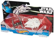 HOT WHEELS STAR WARS TIE FIGHTER VS. MILLENNIUM FALCON STARSHIP 2-PACK - FIGURES
