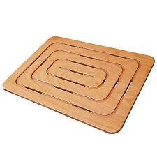 Pedana doccia antiscivolo 79x56 in multistrato marino sottile per piatti doccia