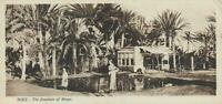 EARLY 1900's VINTAGE SUEZ CANAL THE FOUNTAIN of MOSES POSTCARD - UNUSED