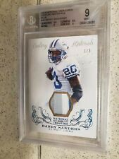 Barry Sanders 3 Color Patch With Stiches? National Treasures 1/5