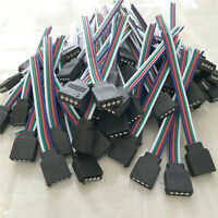 4 PIN Female/Male RGB Connectors Wire Cable For 3528 5050 SMD LED Strip Lights