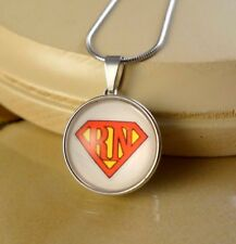 SUPER NURSE RN gifts for Nurses SNAP BUTTON CHARM PENDANT W/ Steel NECKLACE