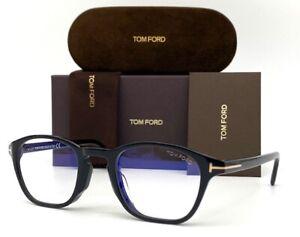 Tom Ford FT5591-B 001 Black / Blue Block 51mm Eyeglasses TF5591 D-B