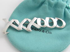 Tiffany & Co Silver Picasso HUGE XXXOOO Hugs Love and Kisses Brooch!