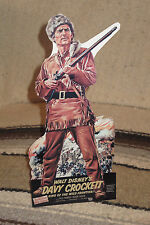 "Walt Disney's Davy Crockett Fess Parker Tabletop Display Standee 10.5""Tall"