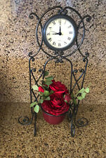 Tuscan Style Standing Metal Battery operated Decorative Clock By The Bombay Co.