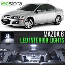 7x White LED Lights Interior Kit Package Bulbs For 2003-2008  Mazda 6 Mazdaspeed