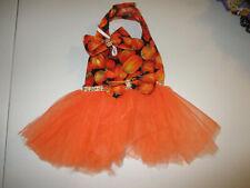 XS female Dog dress [ pumpkin tutu] cotton handmade