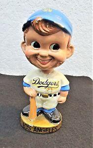 VINTAGE LOS ANGELES DODGERS BASEBALL PLAYER BATTER BOBBLEHEAD NODDER 1960's m