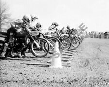 Motocross Starting line Dirt Bike Motorcycle Racing Photo 35 mm Negative Honda