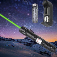Professional Green Laser Pointer Lights Pen Lazer Beam with Charger 18650Battery