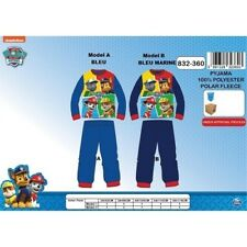 4 ans BLEU (Model A)(104cm) Pyjama polaire PAT PATROUILLE Paw Patrol NEUF l'unit