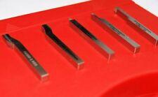 Set of 5 Soba HSS Lathe Tools 6 mm Square (131061) Turning Tools Unimat etc