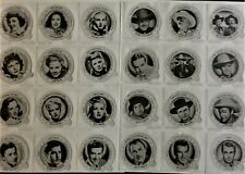 Dixie Cup Ice Cream Lids 1943 Issue, Photocopies