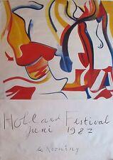 WILLEM DE KOONING HOLLAND FESTIVAL 1987 RARE POSTER 33'' x 46.5