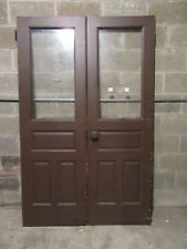 ~ ANTIQUE DOUBLE ENTRANCE FRENCH DOORS  ~ 48 x 75 ~  ARCHITECTURAL SALVAGE
