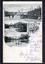 alte Ansichtskarte Gruss aus Carlsruhe (Karlsruhe)