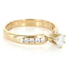 Diamond Engagement Right Hand Ring 14k Gold Fine Bridal Estate Jewelry