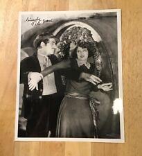 VILOA DANA Autograph 8 x 10 Photo JSA Certified Signature Silent Film Actress