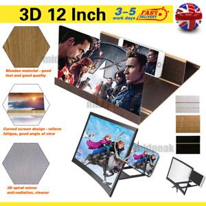 "Universal 12"" Screen Magnifier 3D HD Mobile Smart Phone Magnifier Projector"
