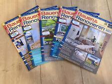 Bauen & Renovieren Zeitschriften von 2018( 5 Hefte )