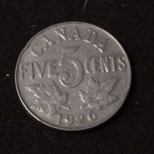 Canada 5 Cents 1926 Near - F
