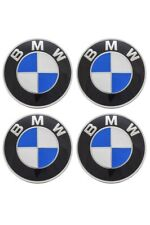 4x  BMW Nabenkappen Felgendeckel 68mm Blau/Weiß NEU