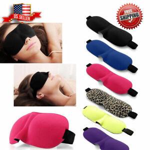 Travel 3D Eye Mask Sleep Soft Padded Shade Cover Rest Relax Sleeping Blindfold