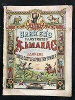 BARKER'S ILLUSTRATED ALMANAC - 1889 - Amazing Printed Engravings