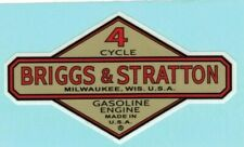 Early Briggs & Stratton Gas Engine Motor Decal Hit & Miss Engine 2 inch Bore