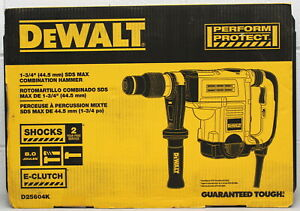 Dewalt D25604K 1-3/4 Inch SDS MAX Combination Hammer 13.5 Amp with Case New