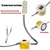 Adjustable 10 LED Light Magnetic Base Switch Flexible Lamp For Sewing Machine