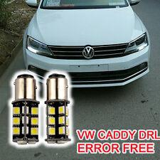 2× VW CADDY CANBUS ERROR FREE XENON WHITE DAYTIME RUNNING LIGHT BULBS P21W