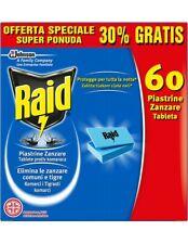 Raid Piastrine Zanzare Promo 60pz