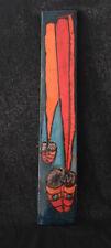 Vintage altes Wandbild Keramikbild Ruscha handgemalt Keramik Bild 70er Jahre