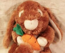 Easter Bunny Rabbit Verrrry Soft Brown Stuffed Animal Toy Carrot