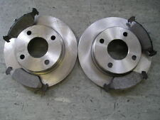 MK4 FORD FIESTA FRONT SOLID BRAKE DISCS AND PADS 1.25 1.3 1995-2000