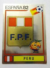 FIGURINE PANINI CALCIATORI SCUDETTO BADGE N.72  PERU' ESPANA 82 1982  NEW-FIO