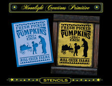 Halloween Stencil~Vintage~FRESH PICKED PUMPKINS~Old Fashion Style Victorian