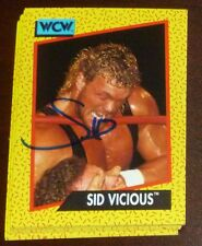 Sid Vicious Signed 1991 Impel WCW Rookie Card RC 29 Autograph WWE Wrestling Auto