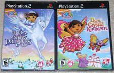 PS2 Game Lot - Dora Saves the Crystal Kingdom (New) Dora Saves the Snow Princess