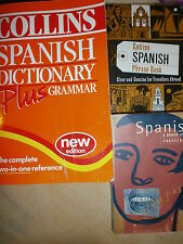 Collins Spanish Dictionary Spanish Phrase Book Rough Guide Travellers Abroad x 3