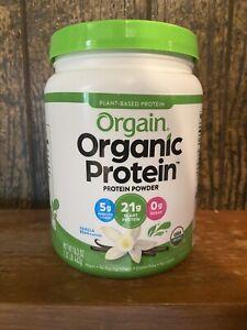 Orgain Organic Protein Plant Based Powder Vanilla Bean 1.12 Lbs 17 Oz