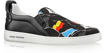 LOUIS VUITTON FRONT ROW FLAGS SLIP ON AMERICA'S CUP SNEAKER UK 8 NEW AUTHENTIC