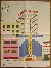 Signed FRUIT BATS Eric D. Johnson Album POSTER InPerson Autograph 18x24 Ruminant
